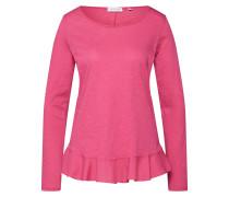 Langarmshirt 'Slub Peplum' pink