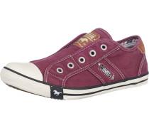 Sneaker im Slipper-Look weinrot