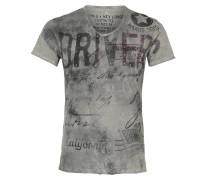 T-Shirt 'Driving' silbergrau