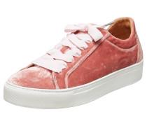 Samt-Sneaker rot