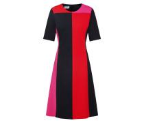 Kleid 'e010S' pink / rot / schwarz
