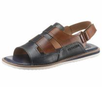 Sandale navy / cognac