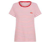 Tshirt 'striped Top' rot / weiß