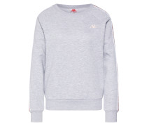 Sweatshirt weiß / graumeliert / altrosa