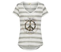 T-Shirt 'joyce' grau / weiß