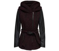 Mantel bordeaux / schwarz