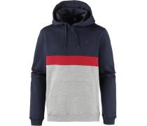 Hoodie 'Court' navy / graumeliert / rot