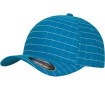 Cap 'Square Check' himmelblau / weiß