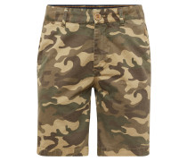 Shorts mit Allover-Muster braun / khaki