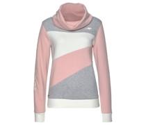 Sweatshirt graumeliert / rosa / weiß