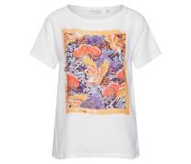 Shirt 'T-Shirt' mischfarben / weiß