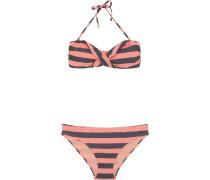Bikini 'ebony' grau / koralle