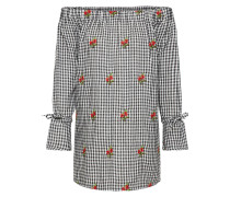 Kleid 'Rita Gingham Embroidered Shift'