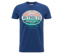 T-Shirt navy / grün / rot
