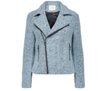 Kurze Woll-Jacke blau