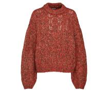 Pullover 'crochet Pull' mischfarben / rot
