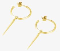 Spear Hoop Ohrringe gold