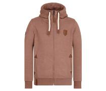 Zipped Jacket hellbraun