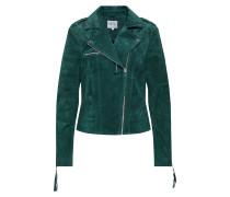 Jacke'VICRIS Suede Jacket' dunkelgrün