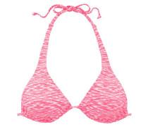 Triangel-Top 'Melange' pink / weiß