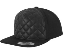 Snapback 'Diamond Quilted' schwarz