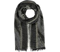 Schal mit Lurexfäden schwarz