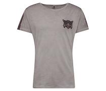 T-Shirt 'MT Gang round' silbergrau