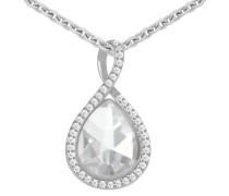 Silberkette »Tropfen« silber