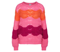Pullover 'striped Pointell Knit'