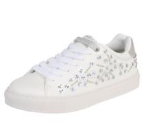 Sneaker 'adams Cherry' silber / weiß
