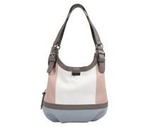 Shopper 'juna' basaltgrau / rosa / weiß