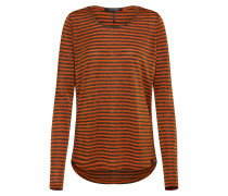 Longsleeve orange / schwarz