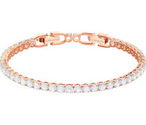 Armband 'Tennis' rosegold / transparent