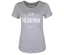 T-Shirt 'LA Reserve' grau / weiß