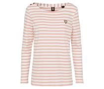 Langarmshirt rosa / weiß
