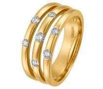Ring 'Diamonds' gold / weiß