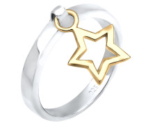 Ring 'Sterne' gold / silber
