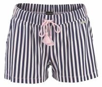 Pyjamashorts creme / blau / rosa