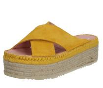 Pantolette 'niza7' beige / gelb