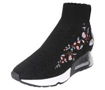 Hoher Sneaker 'lotus' schwarz