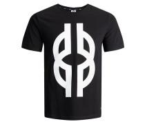 Print T-Shirt schwarz