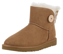 Kurzer Fellstiefel 'Mini Bailey Button' cognac