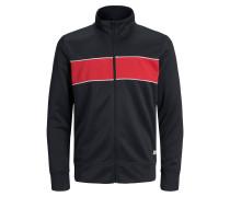 Jacke schwarz / rot / weiß