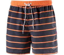 Badeshorts nachtblau / orange / weiß