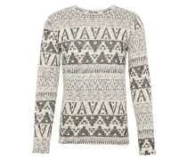 Sweatshirt 'Seth' creme / dunkelgrau
