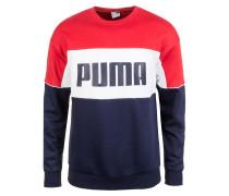 Retro Crew Sweatshirt navy / rot / weiß