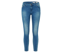 Skinny Jeans 'Undone' blue denim