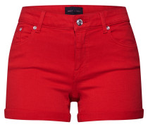 Jeansshorts 'pearl' rot