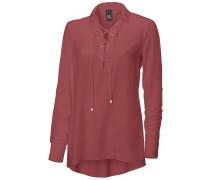 Shirtbluse rubinrot