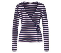 Shirt creme / dunkelblau / merlot